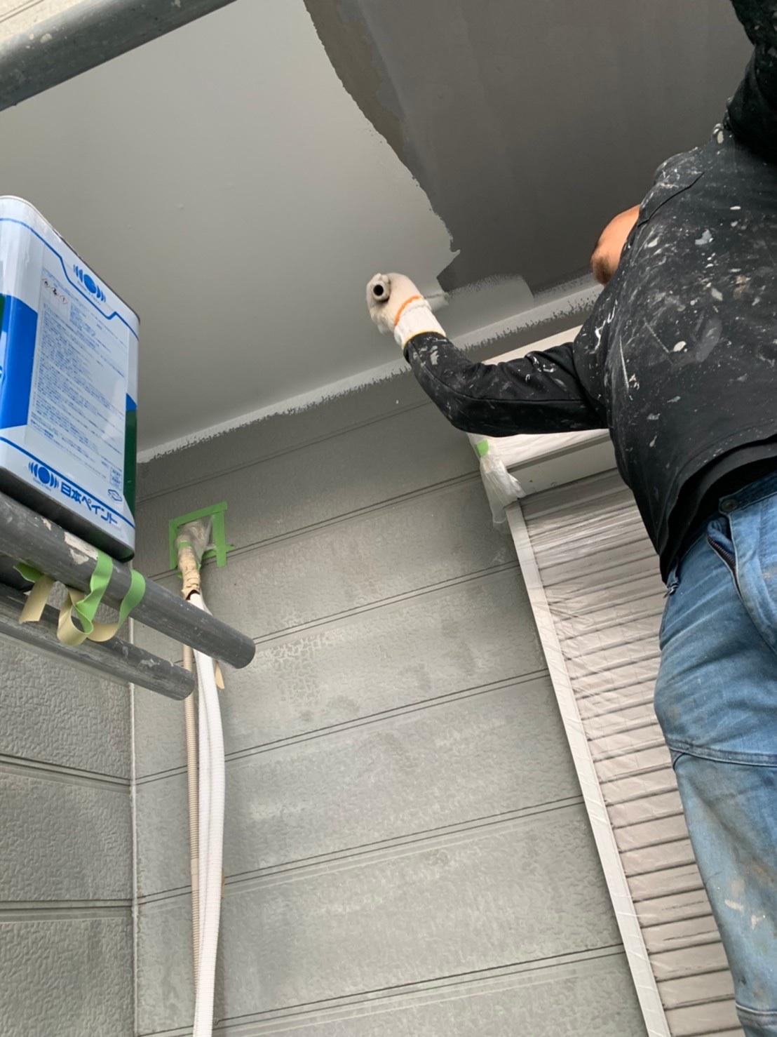 茨木・高槻の外壁屋根塗装防水YJリフォームベランダ下塗装@高槻市北大樋町