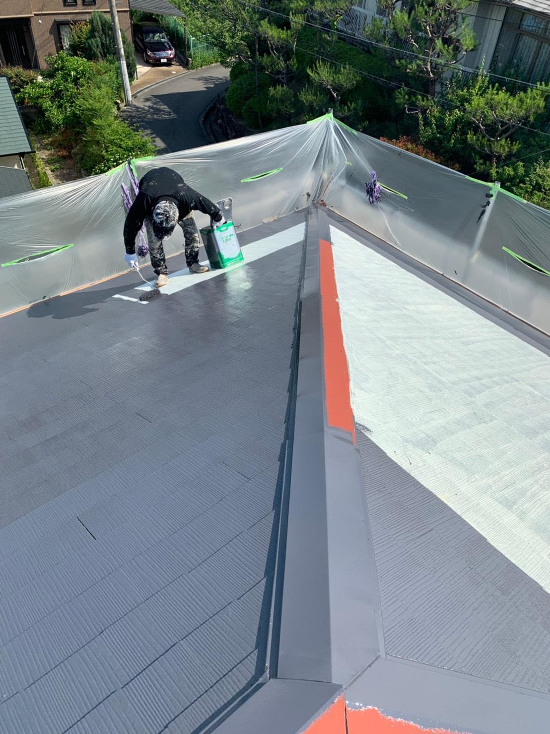 屋根塗装@茨木市南春日丘