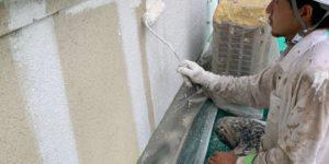 外壁下塗り@高槻市安岡寺町
