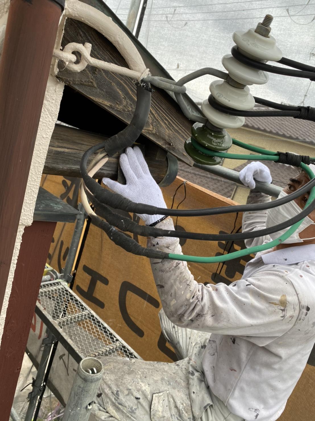 茨木・高槻の外壁塗装YJリフォーム木部下地処理@高槻市津之江町