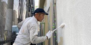 茨木・高槻の外壁屋根塗装防水YJリフォーム外壁下塗り@高槻市土橋町