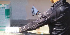 茨木・高槻の外壁塗装YJリフォーム外壁塗装・中塗り