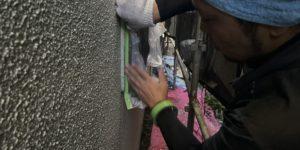 茨木・高槻の外壁塗装YJリフォーム養生@高槻市津之江町