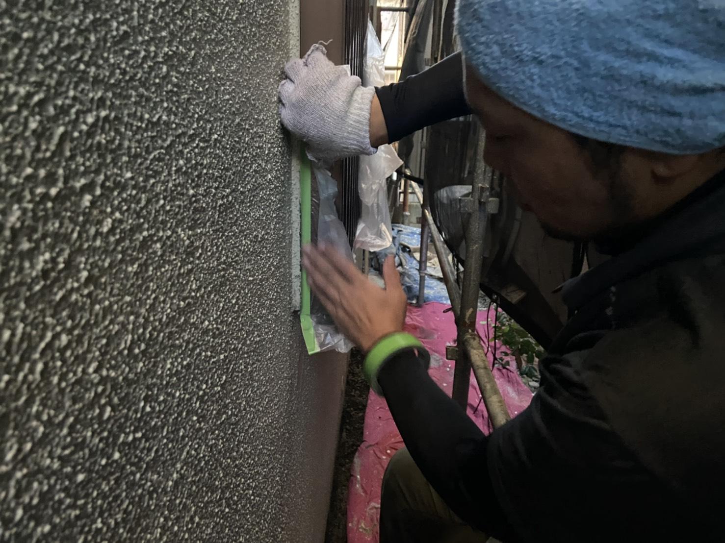 高槻市・茨木市の外壁塗装YJリフォーム養生@高槻市津之江町
