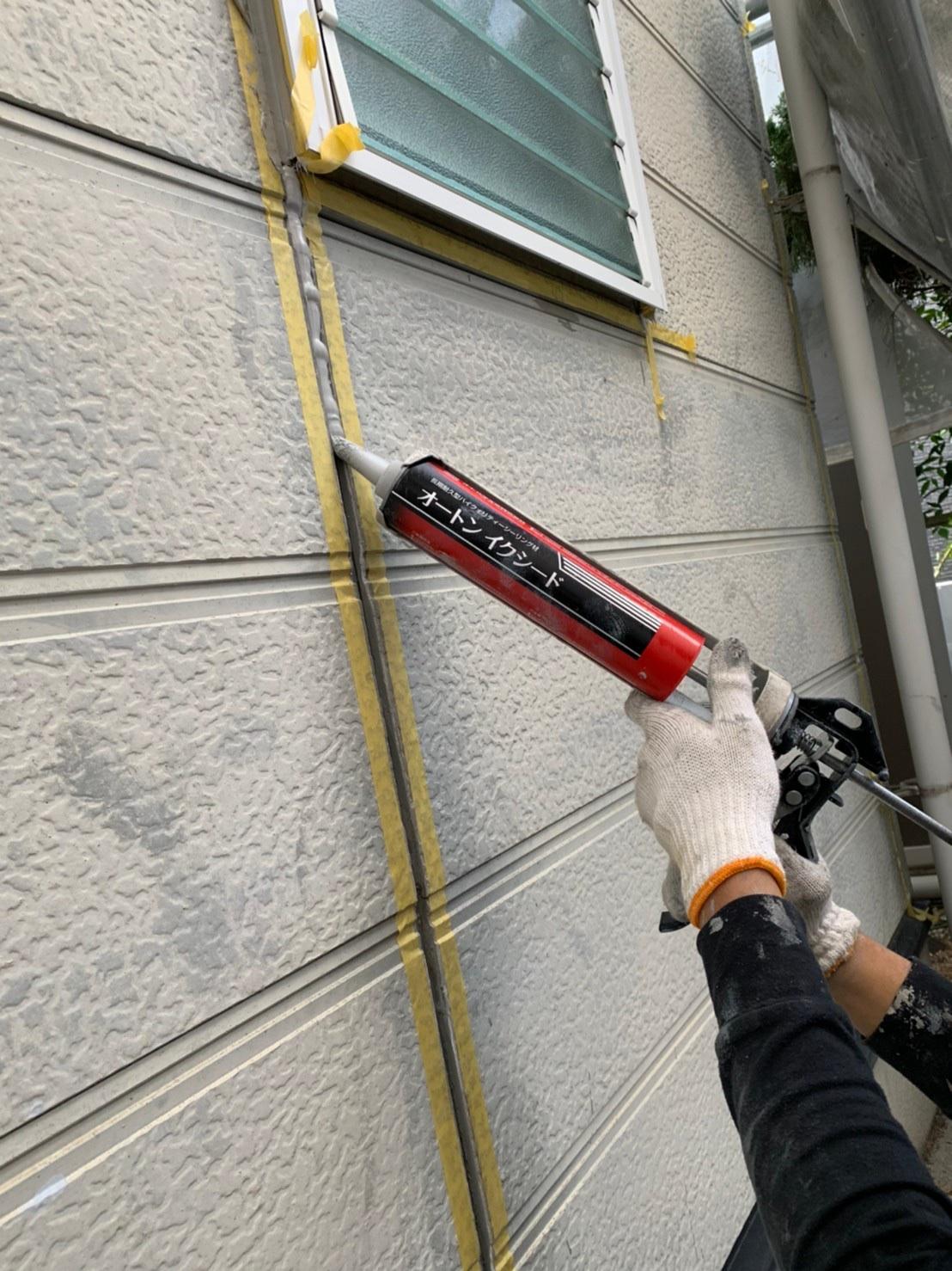 茨木・高槻の外壁屋根塗装防水YJリフォームシーリング充填@高槻市北大樋町
