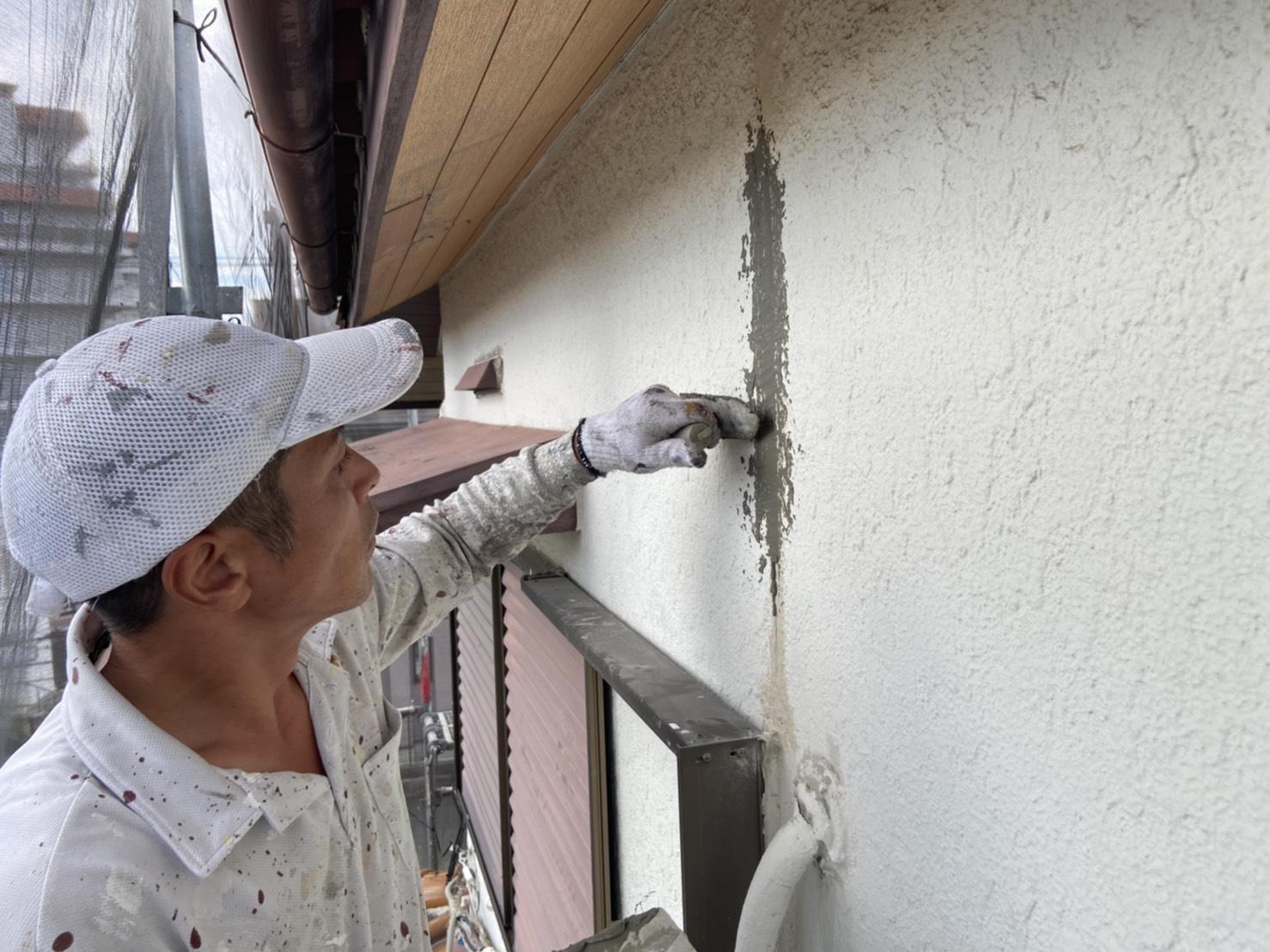 茨木・高槻の外壁塗装YJリフォーム外壁下地補修@吹田市山田