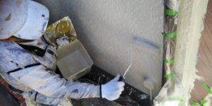 茨木・高槻の外壁塗装YJリフォーム外壁塗装上塗り@吹田市山田