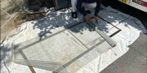 茨木・高槻の外壁塗装YJリフォーム茨木高槻の網戸張替え@高槻市宮野町