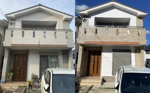 茨木・高槻の外壁塗装・防水工事YJリフォームビフォーアフター