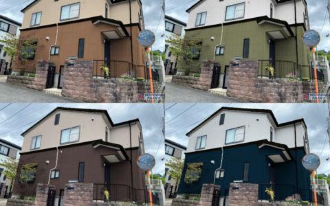 茨木・高槻の外壁塗装・防水工事YJリフォームカラーシミュレーション